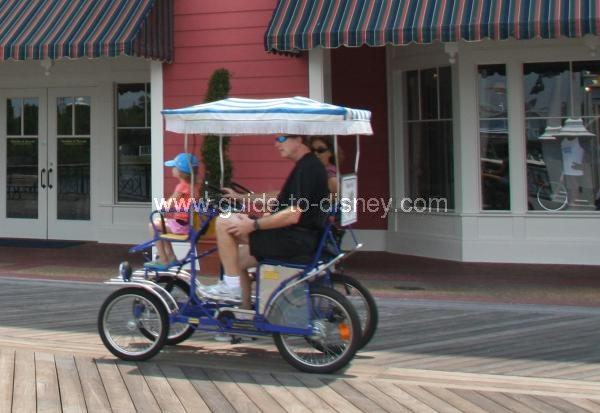 Guide To Disney World Surrey Bikes On Disney S Boardwalk