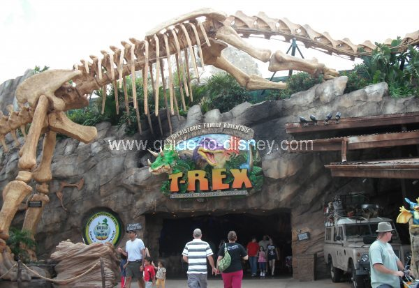 Guide to disney world t rex cafe in the marketplace of for Disney dining reservations t rex