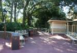 Designated Smoking Area in Liberty Square at Disney Magic Kingdom